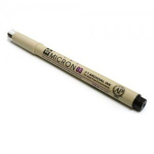 Black marker Pigma Micron Sakura 03, 0.35 mm.