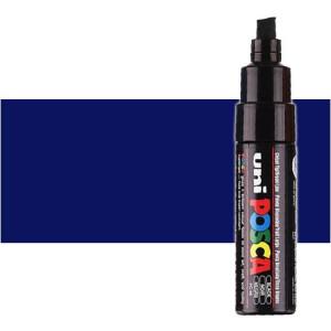 Totenart. Rotulador Posca Azul (300) PC8K, punta biselada (8 mm.)