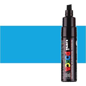 Totenart. Rotulador Posca Azul claro (320) PC8K, punta biselada (8 mm.)