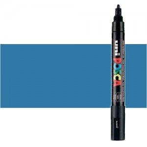 Totenart. Rotulador Posca Azul metálico (350) PC5M, punta redonda (1.8-2.5 mm.)