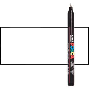 White (N. 1) Posca marker PC1MR, extra fine tip (0.7 mm.)