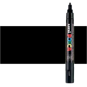 Totenart. Rotulador Posca Negro (200) PC5M, punta redonda (1.8-2.5 mm.)