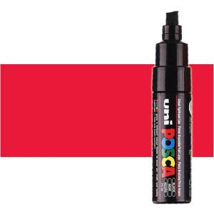 Totenart. Rotulador Posca Rojo (400) PC8K, punta biselada (8 mm.)