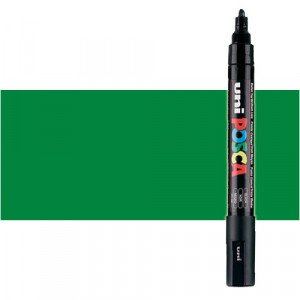 Totenart. Rotulador Posca Verde (500) PC5M, punta redonda (1.8-2.5 mm.)