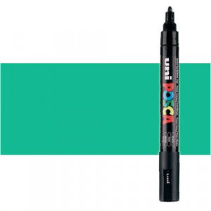 Totenart. Rotulador Posca Verde esmeralda (530) PC5M, punta redonda (1.8-2.5 mm.)