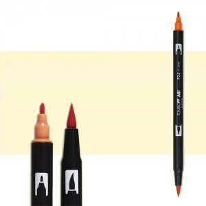 totenart-rotulador-tombow-color-020-melocoton-con-pincel-y-doble-punta
