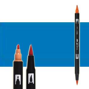 totenart-rotulador-tombow-color-535-azul-cobalto-con-pincel-y-doble-punta