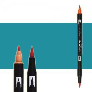 Tombow Marker 407 Tiki Teal dual brush pen