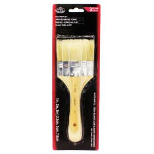 3 Flat Brush Set White Bristle, Royal & Langnickel