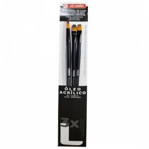 3 Oil and Acrylic Brushes Set L, Art Creation