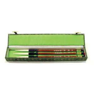 Totenart-Estuche 3 pinceles mango bambu, pelo de cabra