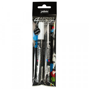 4Artist Oil Marker Set Duo 4mm, Black and White