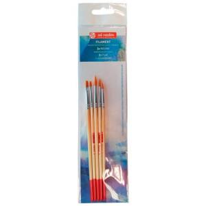 Set 5 Brushes Filament, Round and Flat, Art Creation