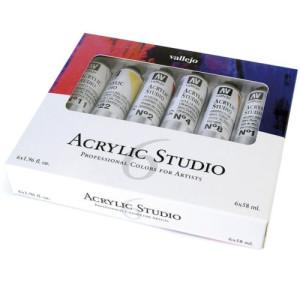 Set Acrílico Studio Vallejo 6 colors (58 ml)