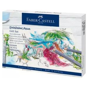 Gift Set Goldfaber Aqua of watercolor pencils, Faber Castell (12 colors + accessories)