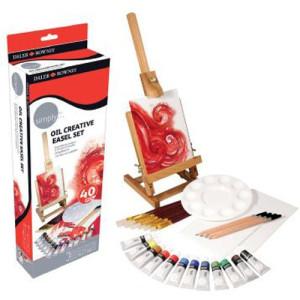Kit de iniciación óleo con caballete (40 piezas)