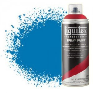 totenart-Pintura en Spray Azul Brillante 0570, Liquitex acrílico, 400 ml.