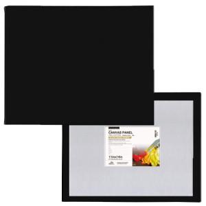 Black Canvas Panel - Special Gesso Preparation, 30x30 cm.