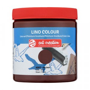 Lino Ink Brown Colour 4003, 250 ml. Artcreation