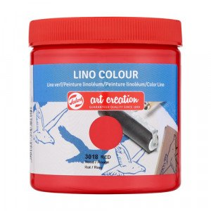 Lino Ink Red Colour 3018, 250 ml. Artcreation
