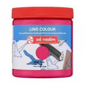 Lino Ink Pink Colour 3500, 250 ml. Artcreation