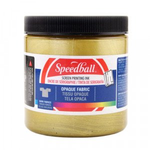 Gold Screen Printing Ink 236 ml. Speedball