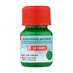 Leaf Green Glass & Porcelain Opaque Ink 6032, 30 ml. Artcreation