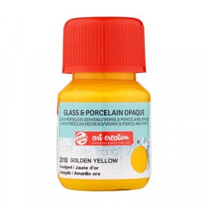 Golden Yellow Glass & Porcelain Opaque Ink 2010, 30 ml. Artcreation