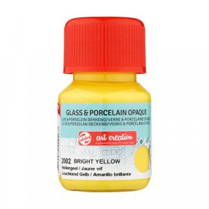 Bright Yellow Glass & Porcelain Opaque Ink 2002, 30 ml. Artcreation