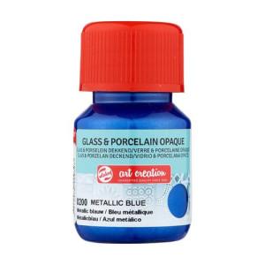 Metallic Blue Glass & Porcelain Opaque Ink 8200, 30 ml. Artcreation