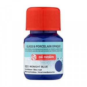 Midnight Blue Glass & Porcelain Opaque Ink 5031, 30 ml. Artcreation