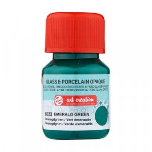 Emerald Green Glass & Porcelain Opaque Ink 6023, 30 ml. Artcreation