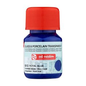 Royal Blue Glass & Porcelain Transparent Ink 5013, 30 ml. Artcreation