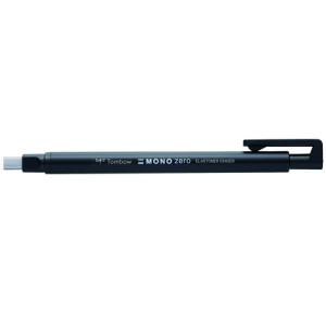 Tombow MONO ZERO Precision eraser, rectangular tip 2,5 x 5 mm. black