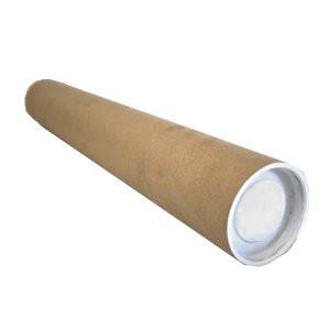 totenart-tubo portaplanos de carton con tapa