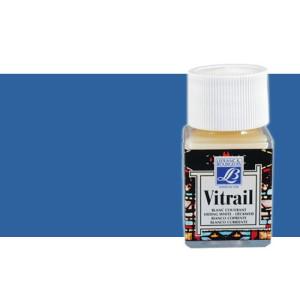 Totenart. Pintura Cristal Azul intenso Vitrail Lefranc, 50 ml.