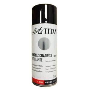 Gloss varnish SPRAY Titan for paintings, 200 ml.