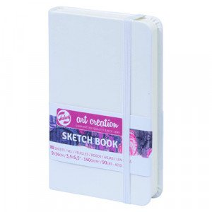 White Sketch Block, 9x14, elastic band, 80 s, 140 gr.