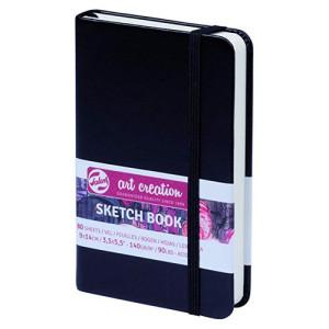 Black Sketch Block, 9x14, elastic band, 80 s, 140 gr.