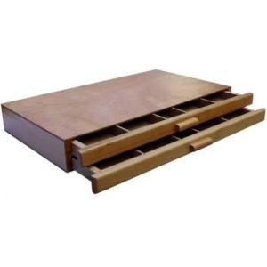 Caja vacía pastel 2 cajones 40X24,3X5,4 cm