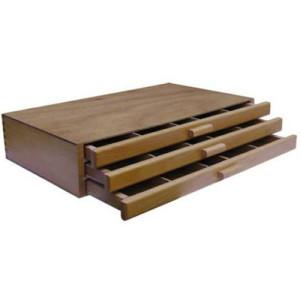 Caja vacía pastel 3 cajones 40X24,3X8,4 cm