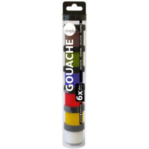 Gouache case 6 colours (18 ml), Simply, Daler Rowney