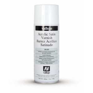 Acrylic Spray Satin Varnish Vallejo, 400 ml.