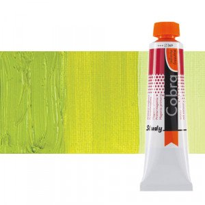 Water mixable oil colour Cobra Study colour yellowish green (40 ml)