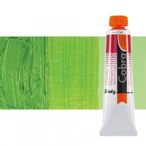 Water mixable oil colour Cobra Study colour permanent light green (40 ml)