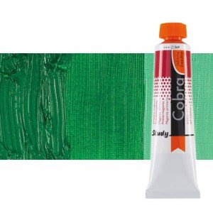 Water mixable oil colour Cobra Study colour permanent dark green (40 ml)