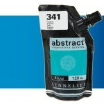 Sennelier Abstract Acrylic Fluorescent Blue 304, 120 ml.