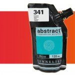 Sennelier Abstract Acrylic Fluorescent Red 604, 120 ml.