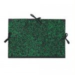 Drawing folder 26x33 cm., Green ribbons