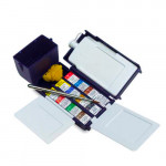 Field Box Professional Watercolour 12 1/2 godets & brush & water carrier